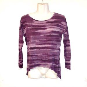 C&C California Purple Tie Dye Shark Bite TSHIRT-XS
